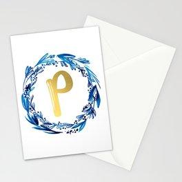 Letter P Monogram Stationery Cards