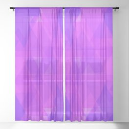 Bright purple and pink triangles in the intersection and overlay. Sheer Curtain