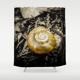 Golden Spiral Shower Curtain