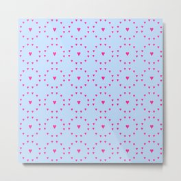 heart and love 5 - pink and blue Metal Print
