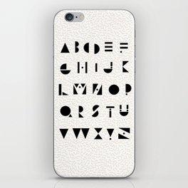 Typography #1 iPhone Skin