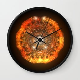 The Eye of Cyma: Fire and Ice - Frame 160 Wall Clock