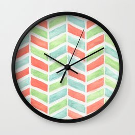 Pastel fishbone Wall Clock