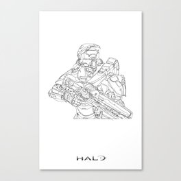 HALO Master Chief continuous line Canvas Print