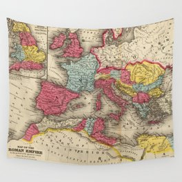 Vintage Map of The Roman Empire (1875) Wall Tapestry
