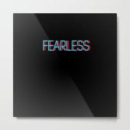 Fearless | Digital Art Metal Print