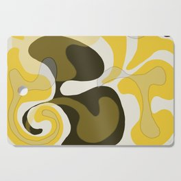 Yellow and Black Abstract Cutting Board