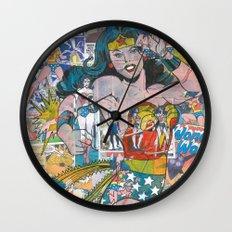 Vintage Comic WonderWoman Wall Clock