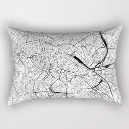 Rome White Map Rectangular Pillow