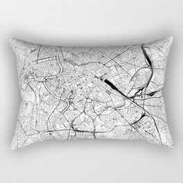 Rome White Map Rectangular Pillow