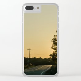 Countryside Sunset Clear iPhone Case