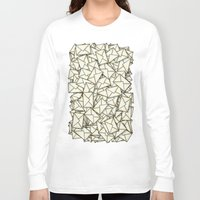 geek Long Sleeve T-shirts featuring Email by 10813 Apparel