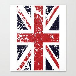 Union Jack Faded United Kingdom Flag 9 Canvas Print