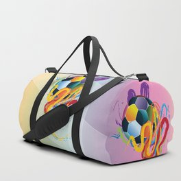 Brush strokes and soccer ball Duffle Bag
