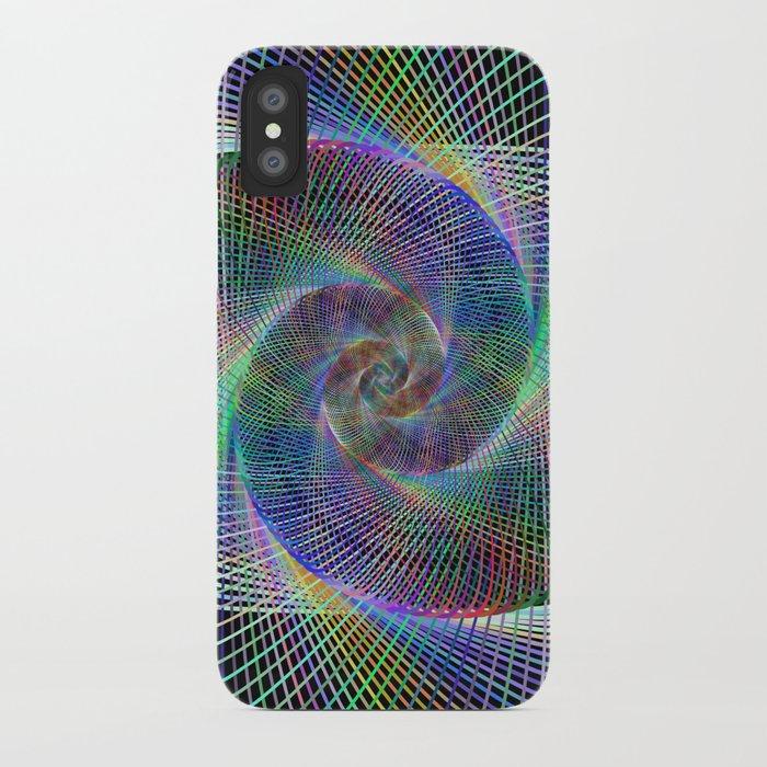 Fractal spiral iPhone Case
