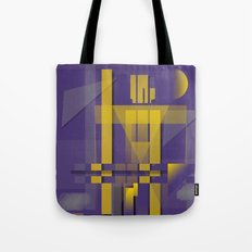 Purple Slices Yellow Tote Bag