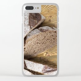 Sliced rye bread Clear iPhone Case
