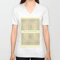 joy division V-neck T-shirts featuring joy division by ░░░░░░░░░░░░