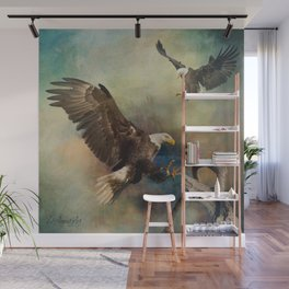Eagles Are Landing Wall Mural