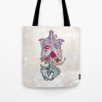 la Tote Bags featuring La Vita Nuova (The New Life) by Rachel Caldwell