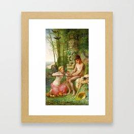 12,000pixel-500dpi - Jean-Francois Millet - Spring, Daphnis And Chloe - Digital Remastered Edition Framed Art Print
