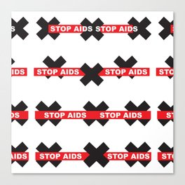 Stop Aids_01 by Victoria Deregus Canvas Print