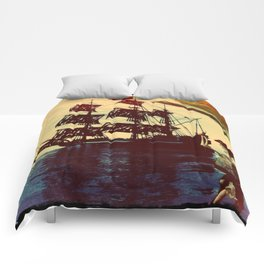 pirate ship Comforters