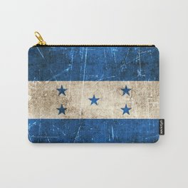 Vintage Aged and Scratched Honduras Flag Carry-All Pouch