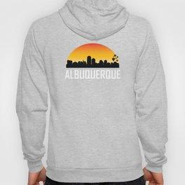 Sunset Skyline of Albuquerque NM Hoody