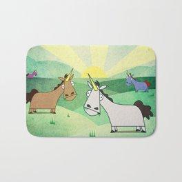 Grazing Unicorns V02 Bath Mat