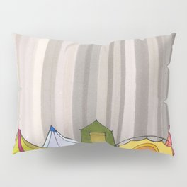 Stripes and Colorful Camping Tents 98 Pillow Sham