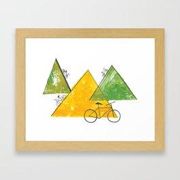 Ride Bike Framed Art Print