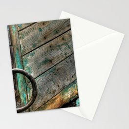Green Boat at Rest Stationery Cards