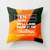 motivational Throw Pillows featuring Motivational Quote by Zenife