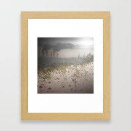 Smoke & Flowers Framed Art Print