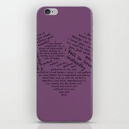 Quotes of the Heart - Cecilos (Black) iPhone Skin