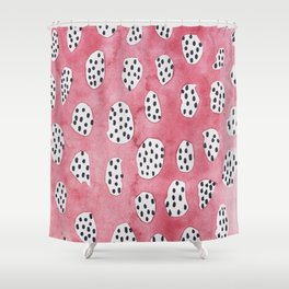 Abstract VI: pink camouflage h Shower Curtain