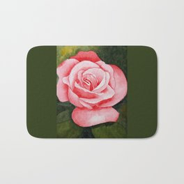 A Rose By Any Other Name–Watercolor Bath Mat
