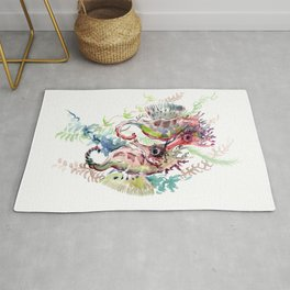 Seahorse, Soft Coral Colors Rug