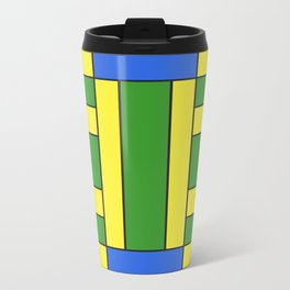 They were all yellow... blue and green Metal Travel Mug