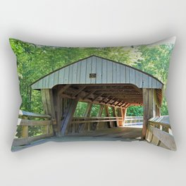 The Covered Bridge at Wildwood Rectangular Pillow