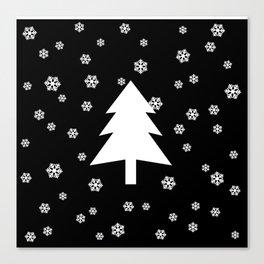 Snowy - black - more colors Canvas Print