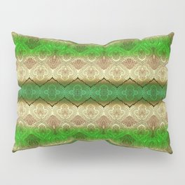 paisley ribbon in forest green Pillow Sham