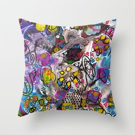 """""""evolution of the soul"""" Throw Pillow"""