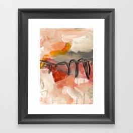 abstract painting XIII Framed Art Print