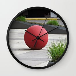 Round and Red Wall Clock