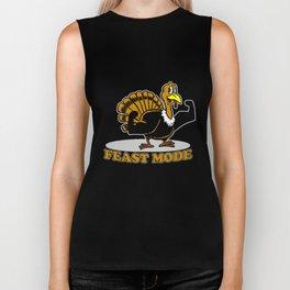 Thanksgiving T-Shirt Feast Mode Funny Turkey Gift Apparel Biker Tank