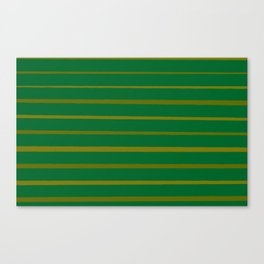 Emerald Green and Honey Gold Thin Stripes Canvas Print