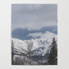Winter Mountainscape Poster