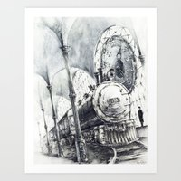 train Art Prints featuring Train by Grim Dream Art